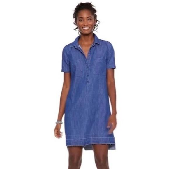 OLD NAVY Short Sleeve Denim Shirt Dress